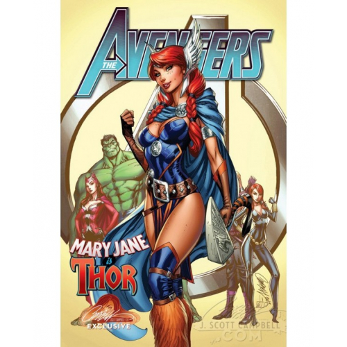 AVENGERS 8 CAMPBELL EXCLUSIVE COVER B (VO)