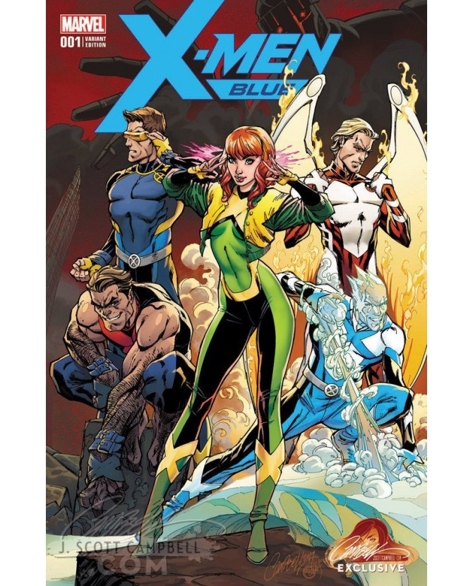 X-MEN BLUE 1 CAMPBELL EXCLUSIVE COVER A (VO)