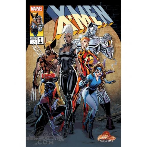 X-MEN GOLD 1 CAMPBELL EXCLUSIVE COVER B Signé par Steigerwald (VO)