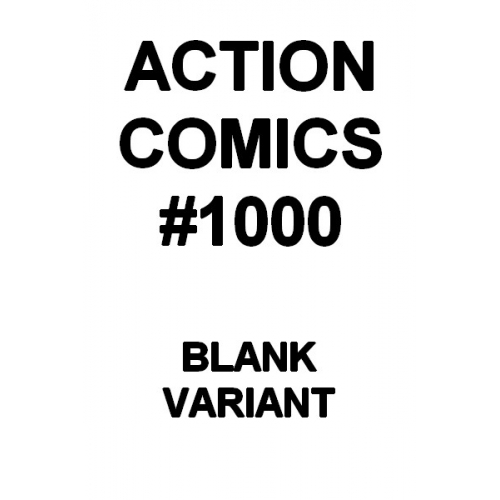 Action Comics 1000 Blank Variant (VO)