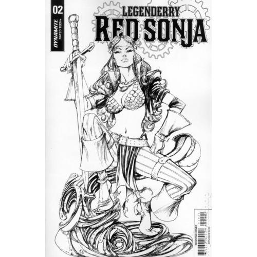 Legenderry : Red Sonja 2 CVR B 10 COPY BENITEZ B&W (VO)