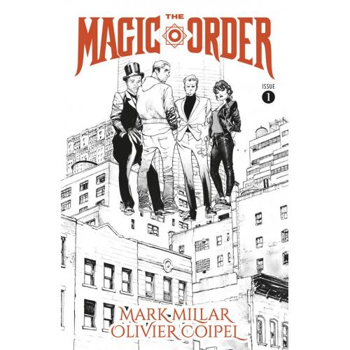The Magic Order 1 (VO) Mark Millar - Olivier Coipel - Black & White Variant