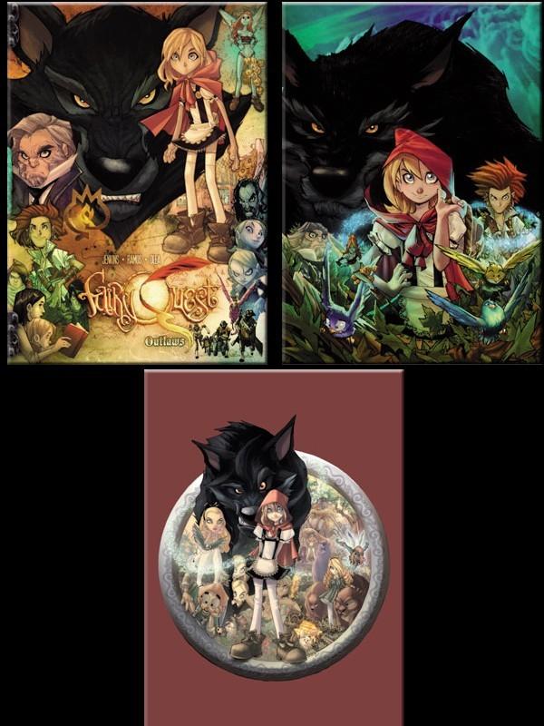 Lot de 3 Magnets Fairy Quest