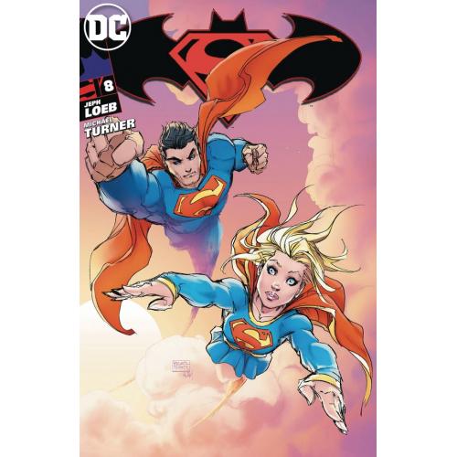 Superman / Batman 8 Cover B (VO) Michael Turner Exclusive As signé par Steigerwaldpen Variant