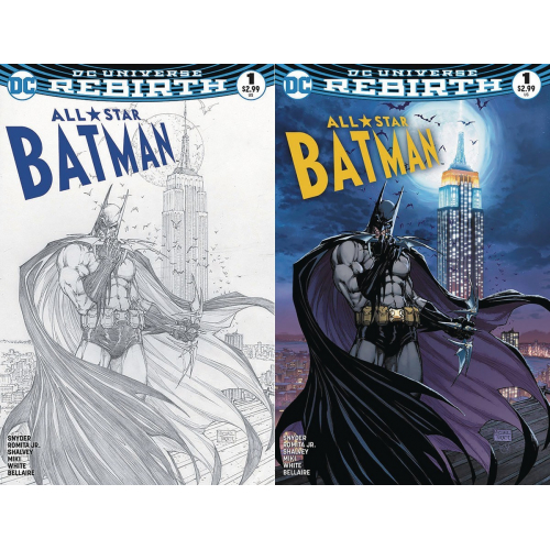 All Star Batman 1 Aspen COLORS & B&W Var Set (VO) Michael Turner Exclusive Aspen Variant