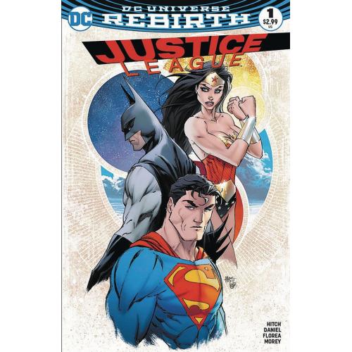 Justice League 1 (VO) Michael Turner Exclusive Aspen Variant signé par Steigerwald