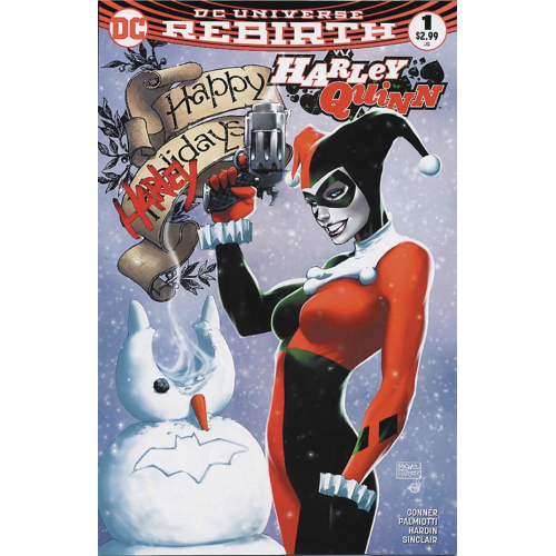 Harley Quinn 1 Holiday Variant (VO) Michael Turner Exclusive Aspen Variant