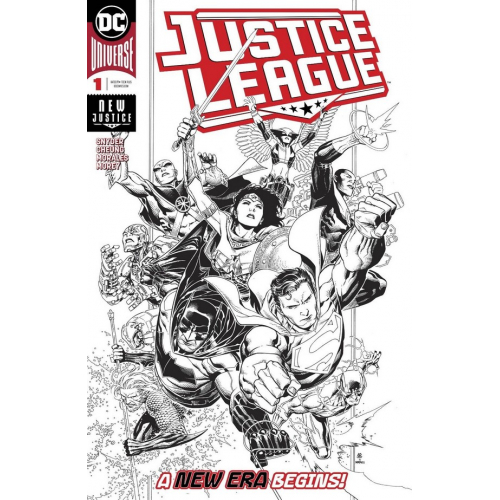 JUSTICE LEAGUE 1 1:100 JIM CHEUNG INKS ONLY VARIANT (VO)