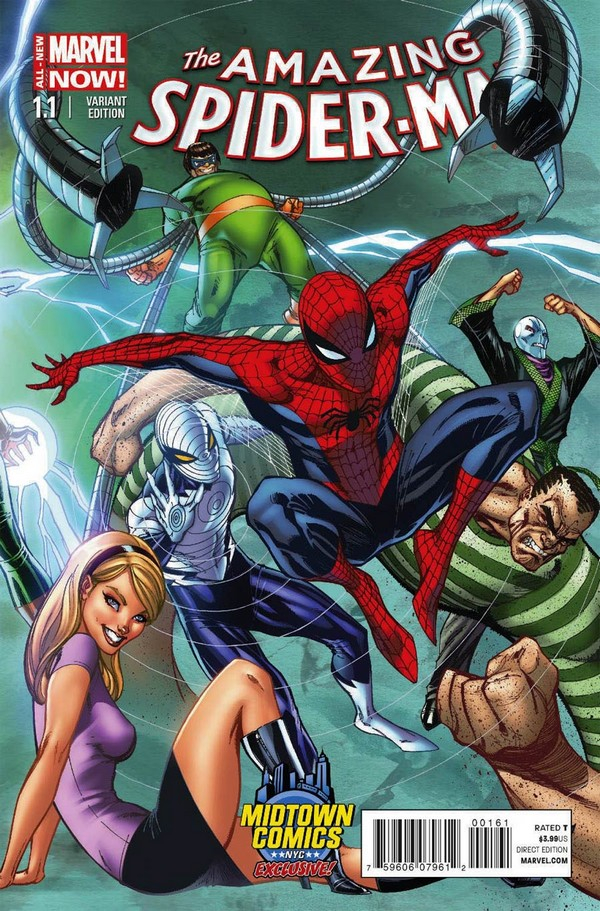 AMAZING SPIDER-MAN (VOL 3) 1 (VO) J. SCOTT CAMPBELL VARIANT - 2014