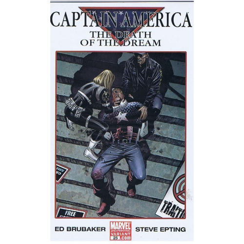 Captain America The Death of the dream Variant Cover - 2nd printing (VO)