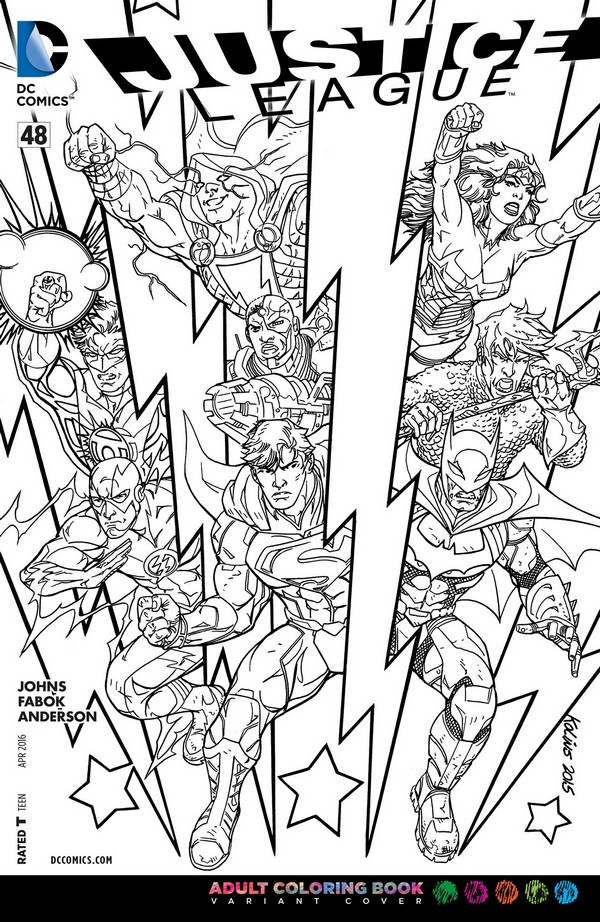 Justice League 48 Adult Coloring Book Variant (VO)