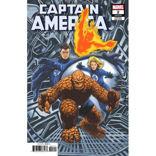 Captain America 2 Charest return of Fantastic Four Variant (VO)