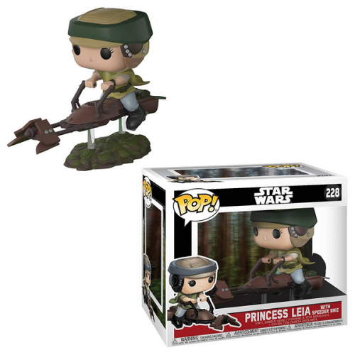 FUNKO POP Star Wars Leia on Speeder Bike 228