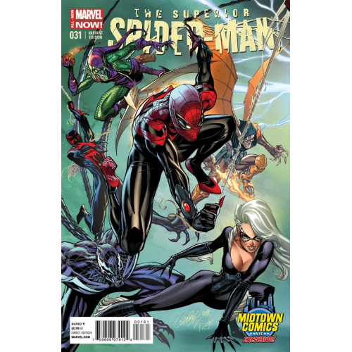 Superior Spider-Man 31 Cover B Midtown Exclusive J Scott Campbell Connecting Color Variant Cover