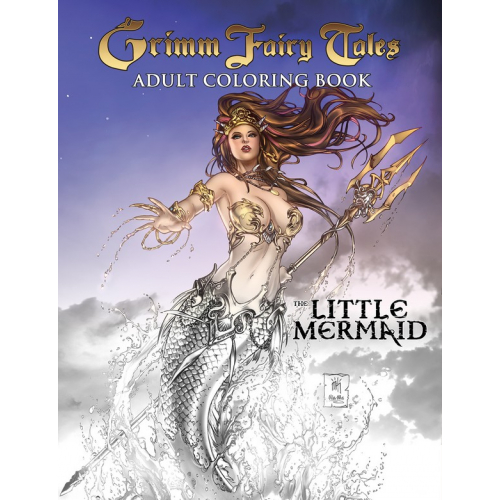 GRIMM FAIRY TALES ADULT COLORING BOOK THE LITTLE MERMAID (VO)