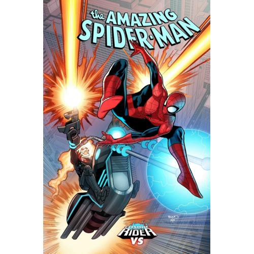 AMAZING SPIDER-MAN 6 RENAUD COSMIC GHOST RIDER VARIANT (VO) HUMBERTO RAMOS