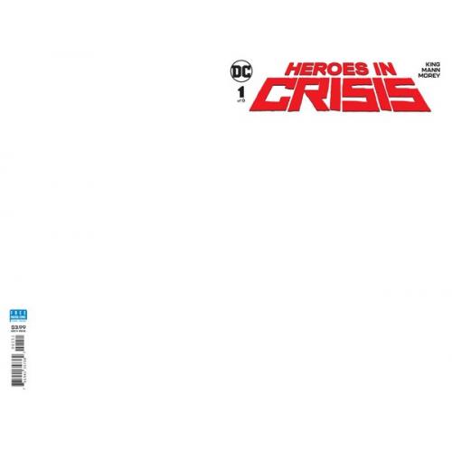 Heroes in Crisis 1 Blank Variant (VO)
