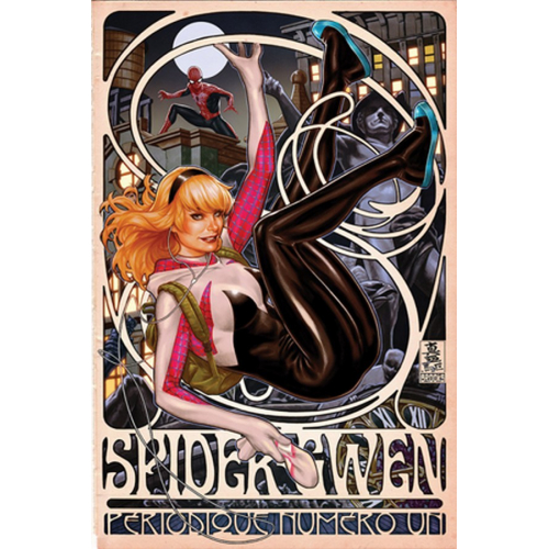 DF SPIDER-GWEN 1 BROOKS LTD PINK SGN (VO)