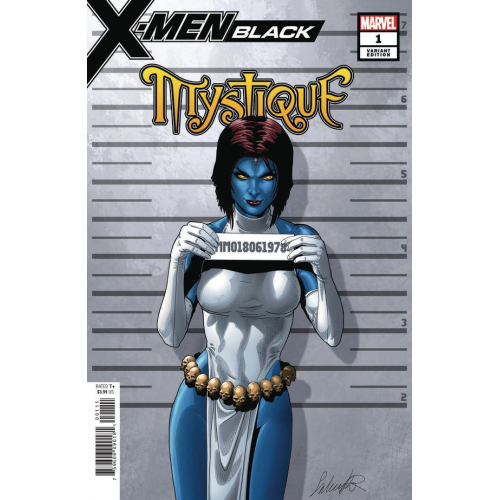 X-MEN BLACK MYSTIQUE 1 LARROCA MUGSHOT VAR (VO)