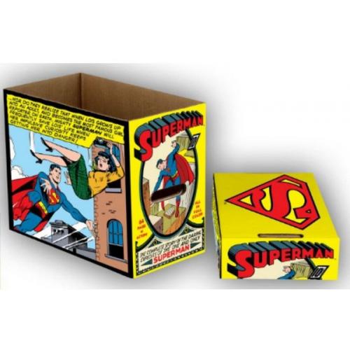 Short box DC Comics Superman Comic Panel