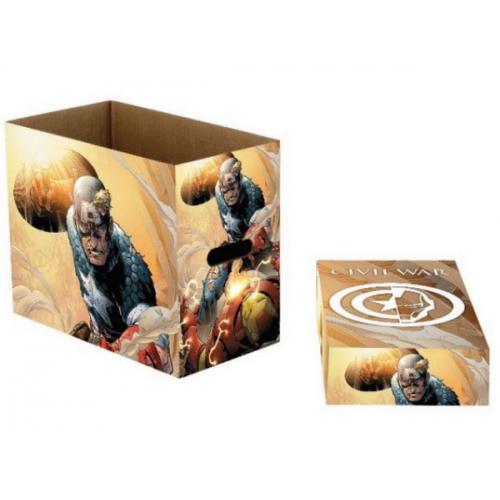 Short box Marvel Comics Captain America Iron Man Civil War
