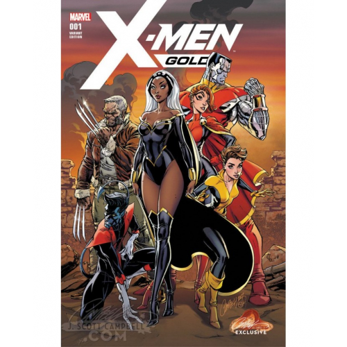 X-MEN GOLD 1 CAMPBELL EXCLUSIVE COVER A (VO) Signé par Steigerwald