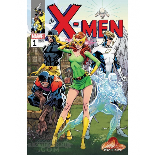 X-MEN BLUE 1 CAMPBELL EXCLUSIVE COVER B (VO)