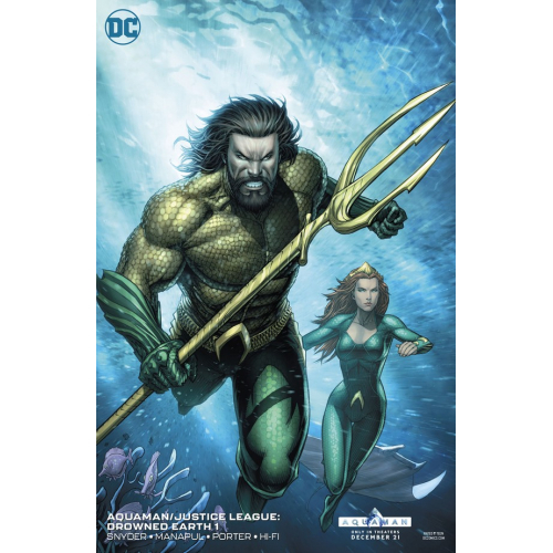 AQUAMAN JUSTICE LEAGUE DROWNED EARTH 1 VARIANT EDITION (VO)