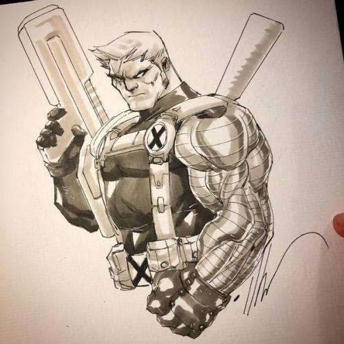 Dessin Original : Deadpool par Ale Garza