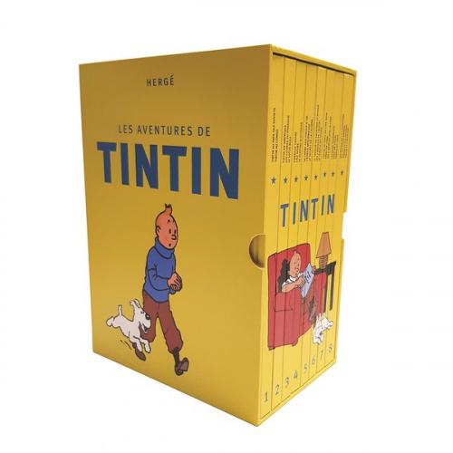 Les Aventures de Tintin, Intégrale : Coffret en 8 volumes : La collection complète (VF)
