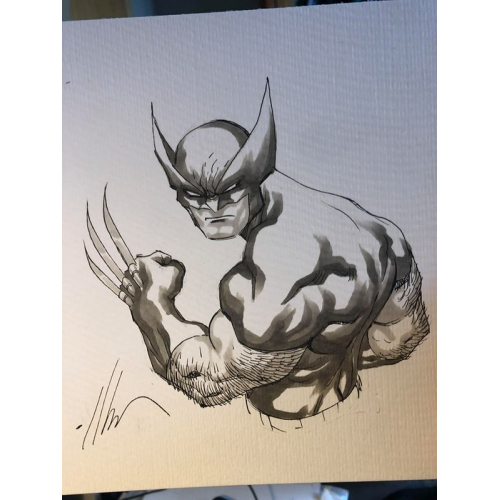 Dessin Original : Swinging SPIDER-MAN par Ale Garza
