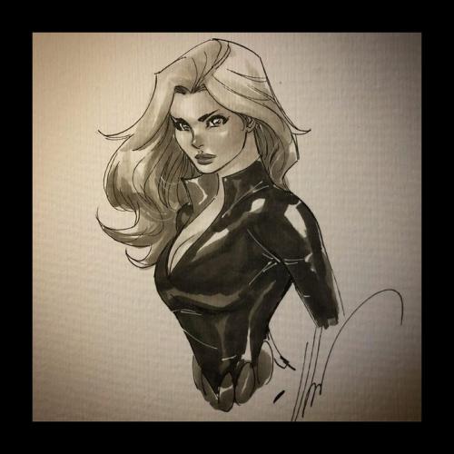 Dessin Original : Black Widow par Ale Garza