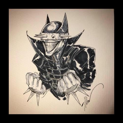 Dessin Original : BATMAN WHO LAUGHS par Ale Garza
