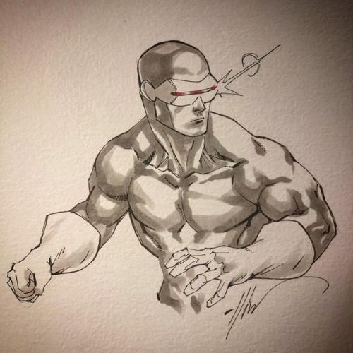 Dessin Original : Classic Cyclops par Ale Garza