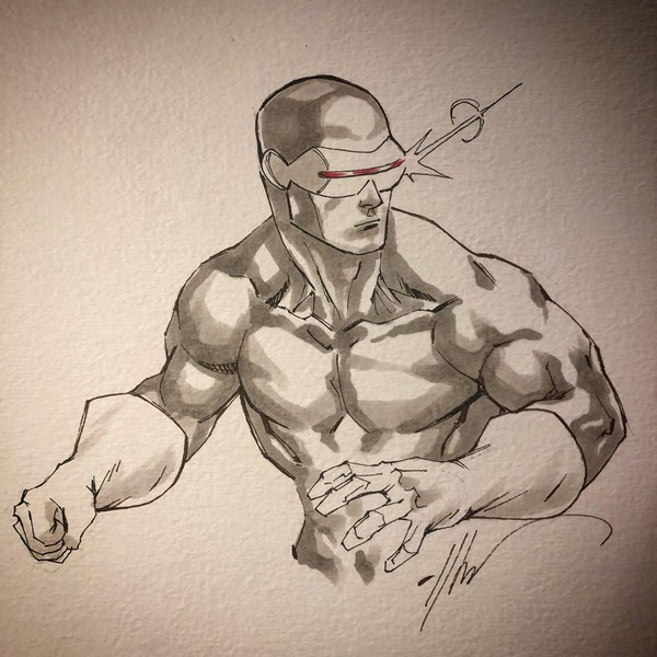 Dessin Original : Wolverine Uncanny X-Men 251 recreation par Ale Garza