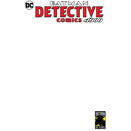 Detective Comics 1000 Blank Variant (VO)