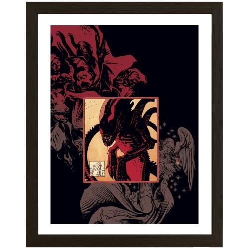 Print ALIENS 02 - MIKE MIGNOLA - Original Fine Arts - Limited to 100 - Encadré