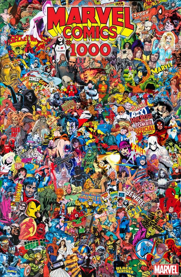 MARVEL COMICS 1000 (VO) MR GARCIN COLLAGE COVER