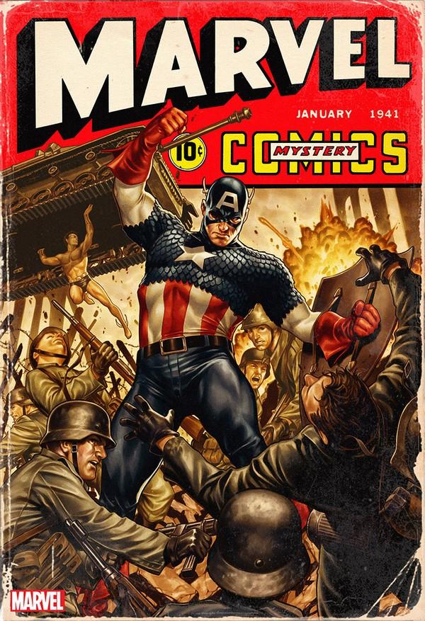 MARVEL COMICS 1000 40s VARIANT COVER BY MARK BROOKS (VO)
