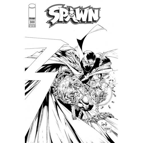 SPAWN 300 (VO) B&W Capullo & McFarlane Cover (F)