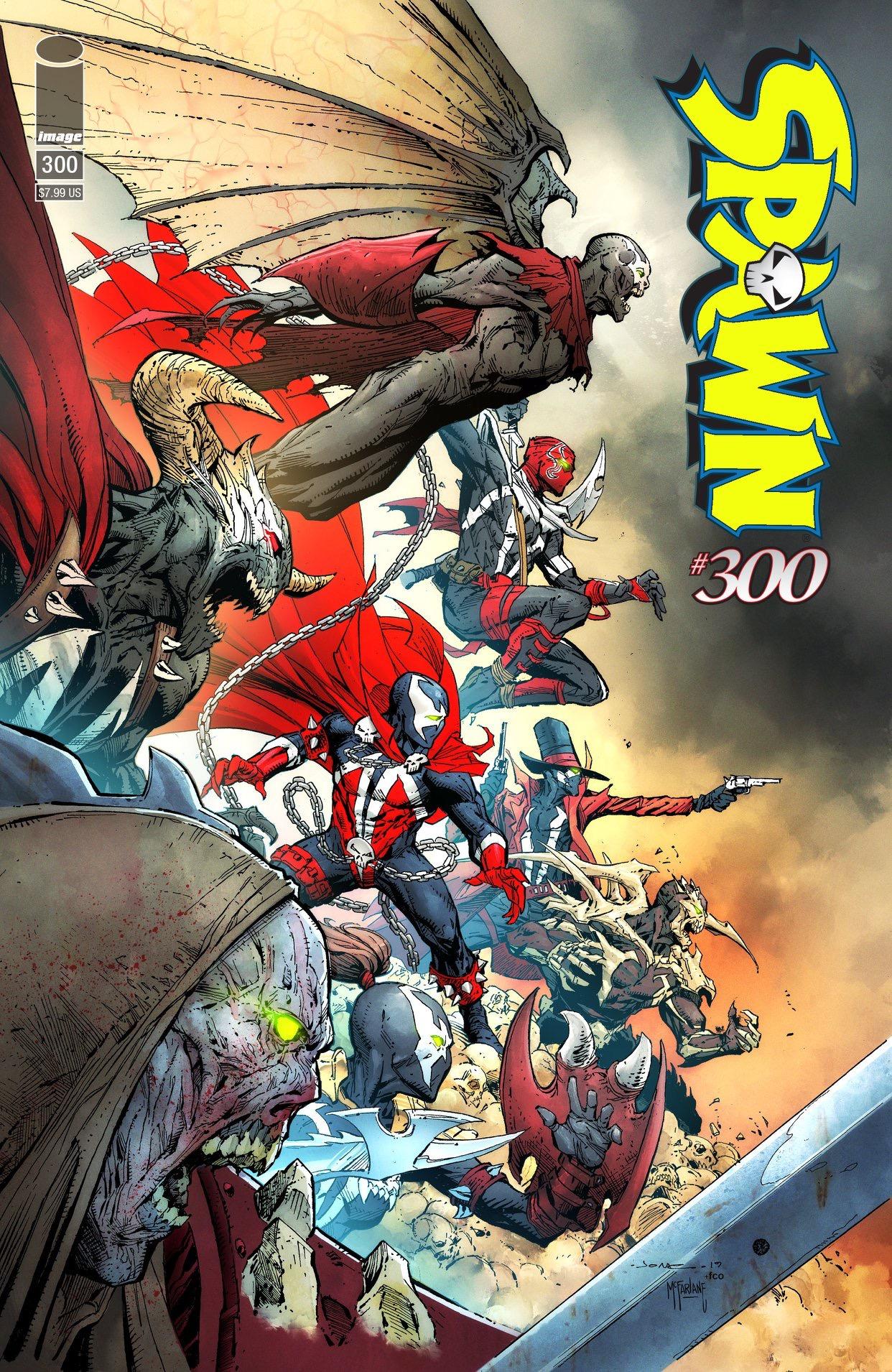 SPAWN 300 (VO) J. Scott Campbell Cover (G)