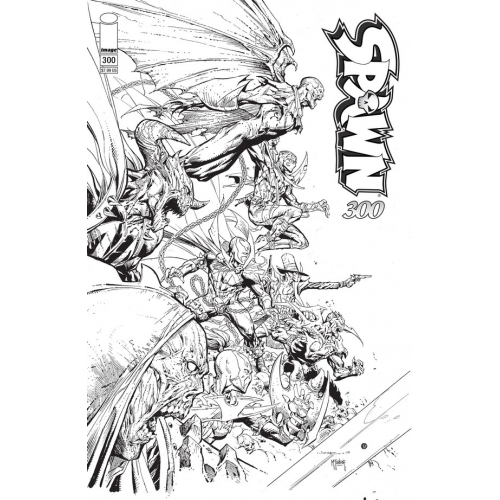 SPAWN 300 (VO) Jerome Opena B&W cover (P)
