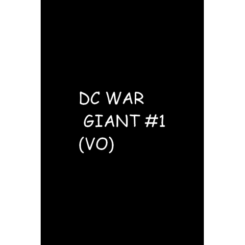 DC WAR GIANT 1 (VO)