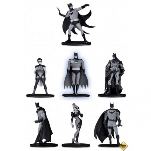 BATMAN BLACK & WHITE PACK 7 FIGURINES PVC BOX SET -1 10 CM