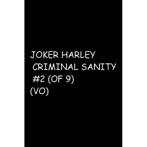 JOKER HARLEY CRIMINAL SANITY 2 (OF 9) (VO)
