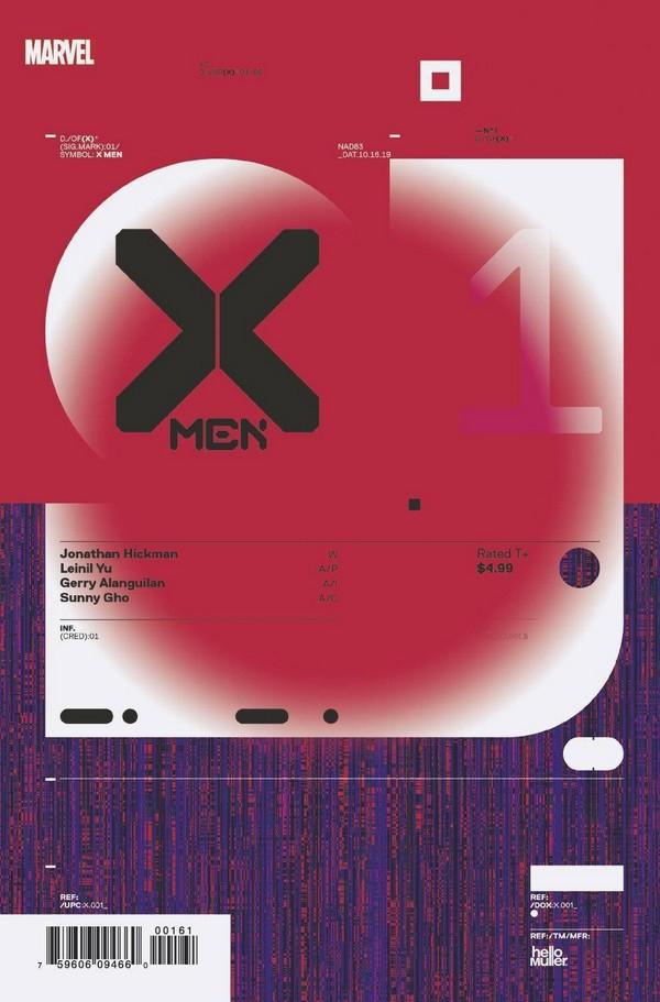 X-MEN 1 MULLER DESIGN VARIANT VAR (VO)