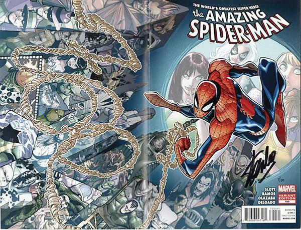 DF AMAZING SPIDER-MAN 700 SGN STAN LEE (VO) Signé par Stan Lee