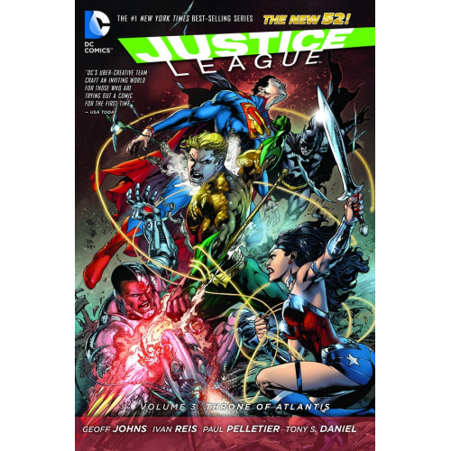 JUSTICE LEAGUE TP VOL 03 THRONE OF ATLANTIS (N52)(VO) occasion