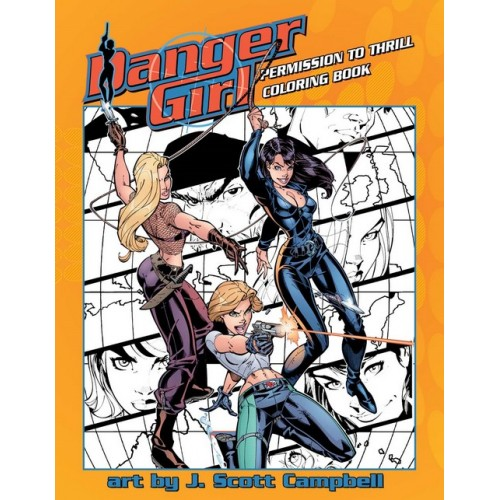 Danger Girl : Permission de Thrill : Coloring Book