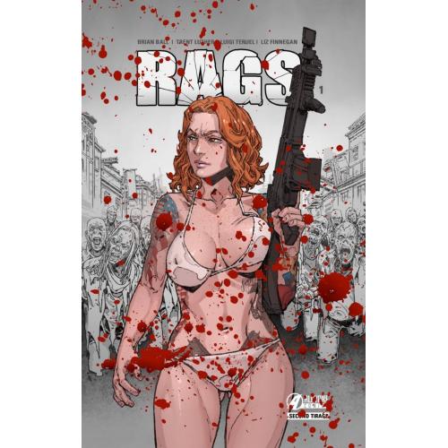 RAGS tome 1 Bloody Edition (VF) (Second tirage) - Dédicacé et Signé par Thomas Riviere